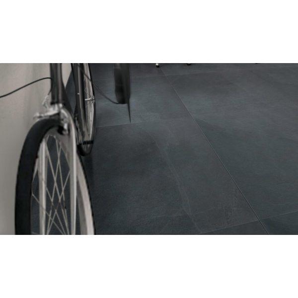 210271 1 - Robusto Ceramica 3.0 Mustang Santos Black 90x90x3 cm - Alpha Sierbestrating