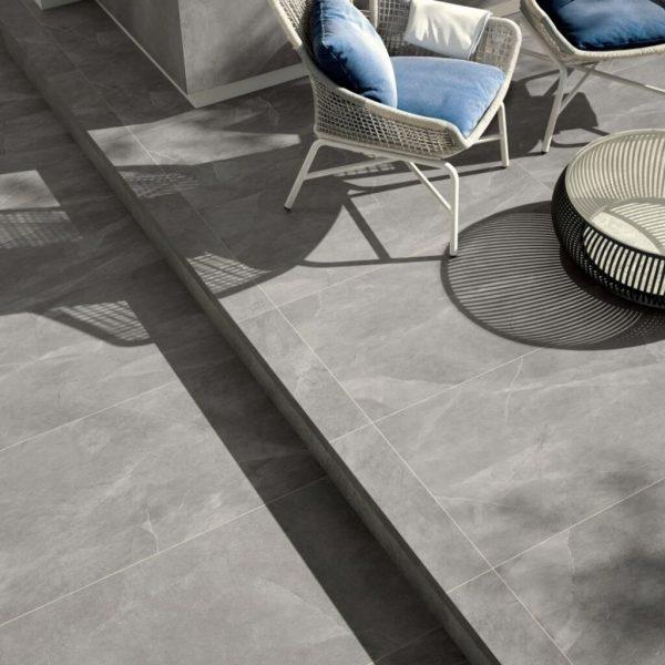 250296 1 - Robusto Ceramica 3.0 Evoque Light Grey 90x90x3 cm - Alpha Sierbestrating
