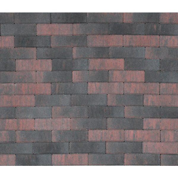 Z0000269 - Tremico dikformaat 20x6,7x6 cm Rood-zwart - Alpha Sierbestrating