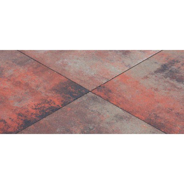 Z0000424 - Metro Carré 50x50x5 cm Nero rosso - Alpha Sierbestrating