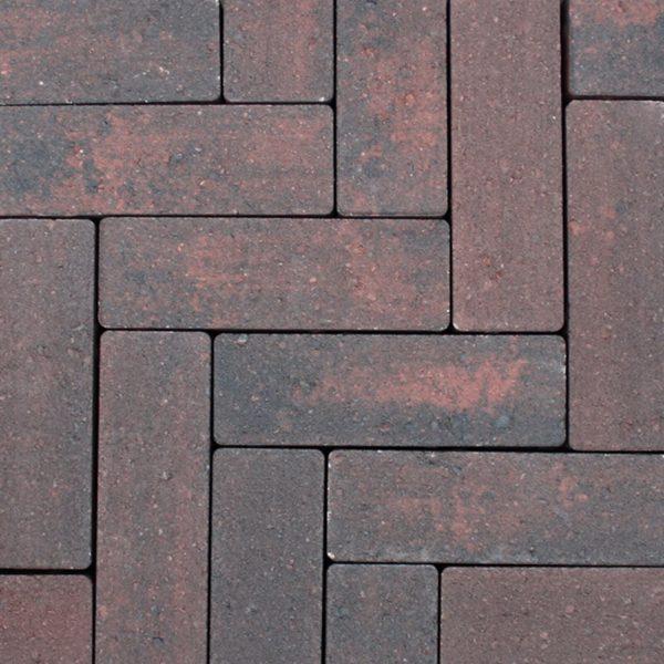 Z0000434 - Strackstone+ 21x7x8 cm Wijnrood-antraciet - Alpha Sierbestrating