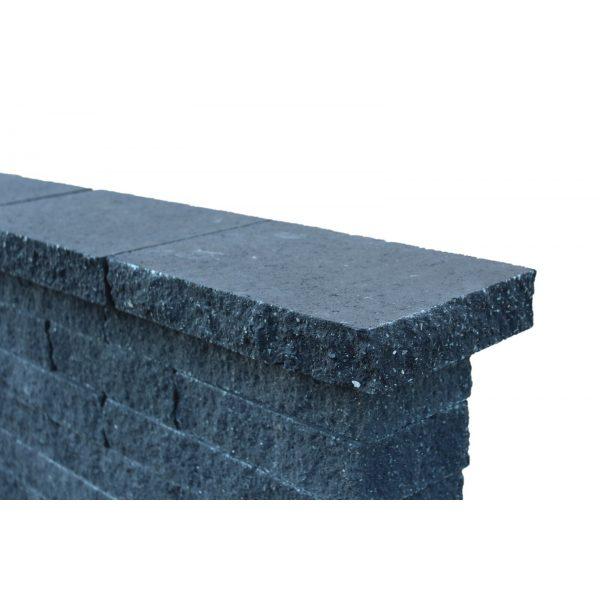 Z0000689 - Wallblock Split afdekplaat 60x25x6 cm Antraciet - Alpha Sierbestrating