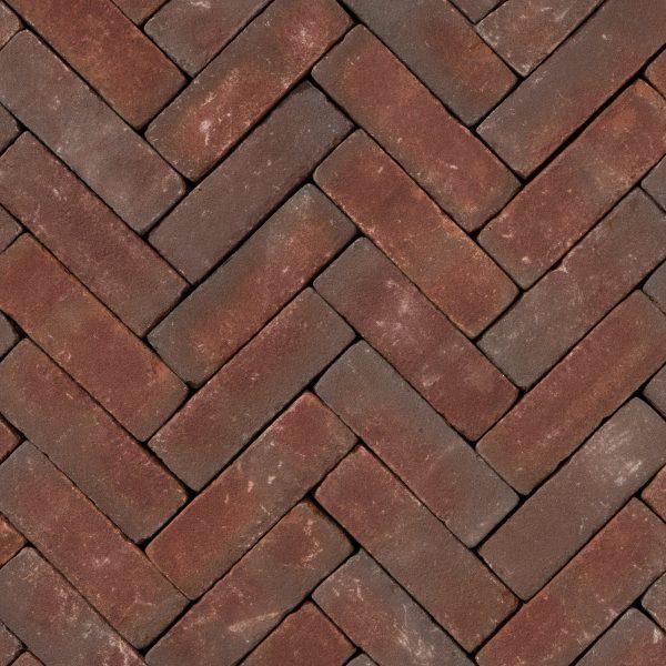 Z0003456 - Rustiek dikformaat 20x6,5x6,5 cm Ruston Paars-rood - Alpha Sierbestrating