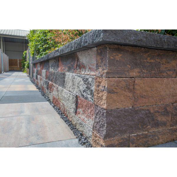 Z0004032 - Wallblock Split 60x12x15 cm Twents bont - Alpha Sierbestrating